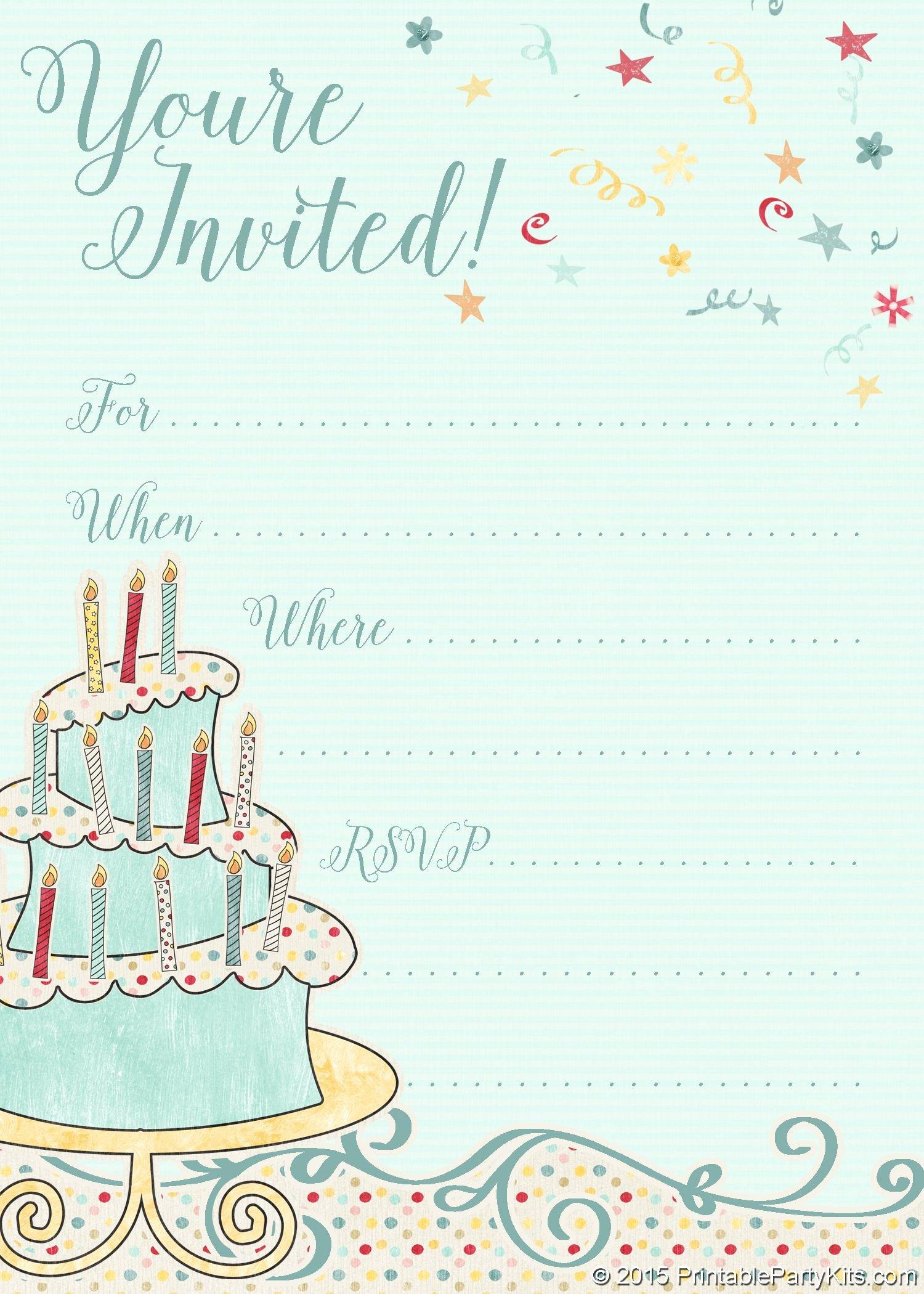 Free Printable Birthday Invitation Templates Lovely Free Printable Whimsical Birthday Party Invitation