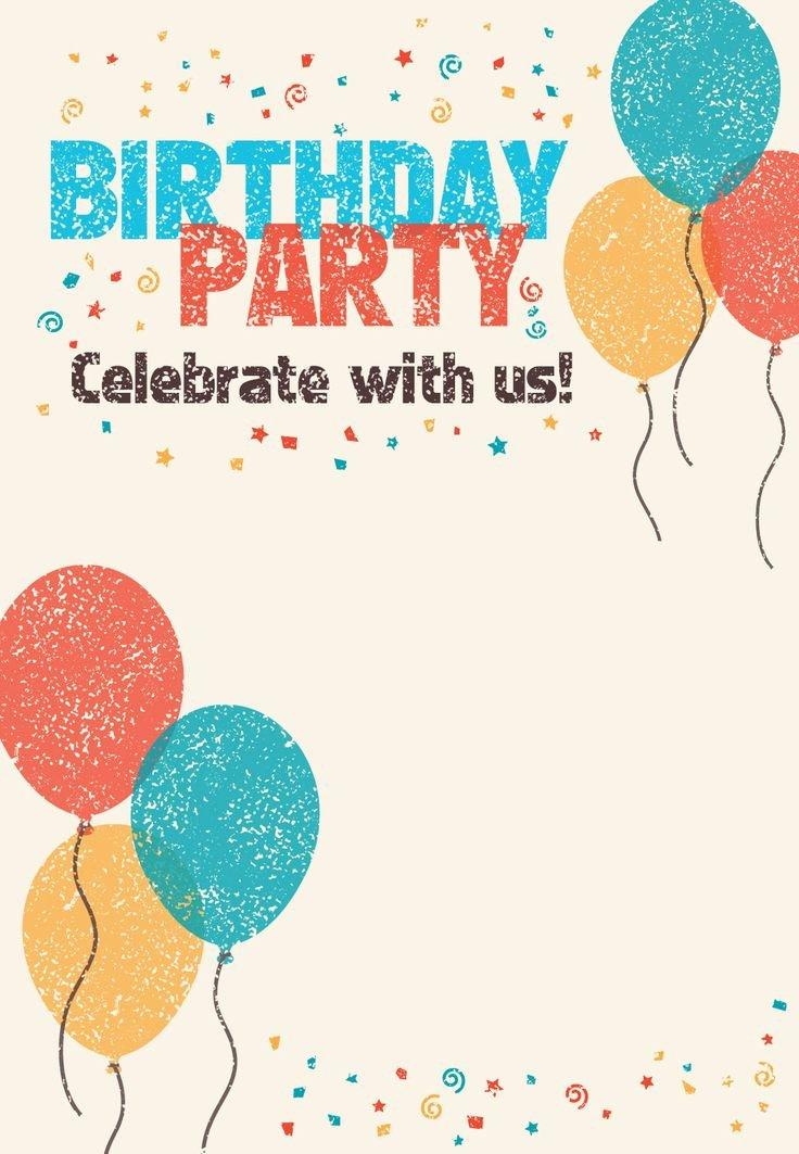 Free Printable Birthday Invitation Templates Luxury Best 25 Printable Birthday Invitations Ideas On Pinterest