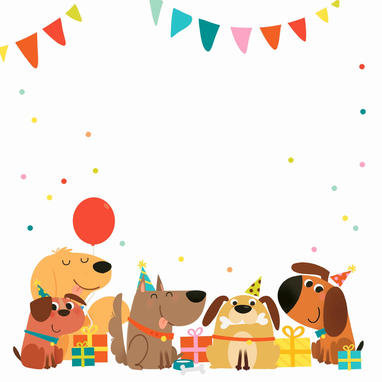 Free Printable Birthday Invitation Templates Unique Delighted Dogs Free Printable Birthday Invitation