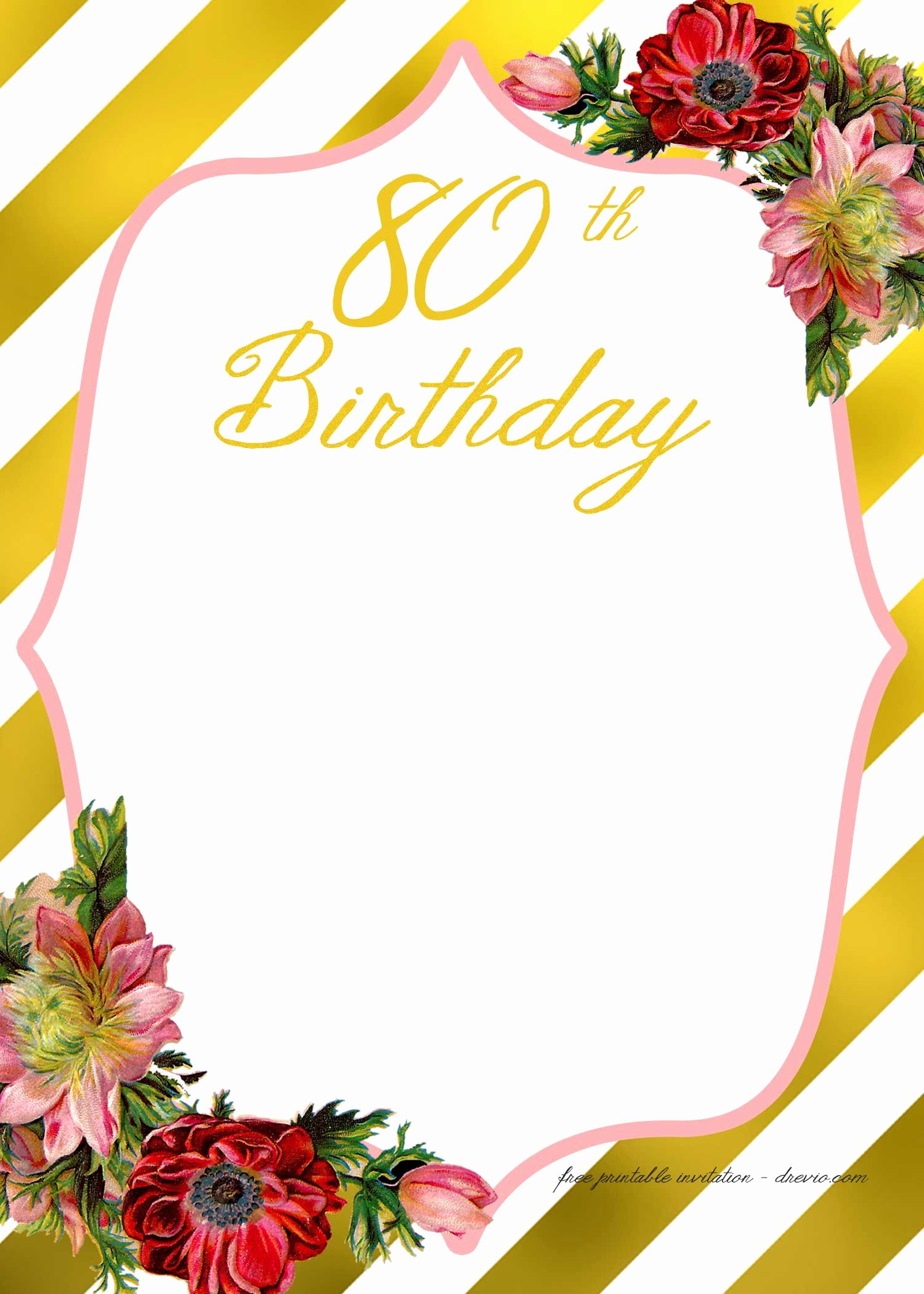 Free Printable Birthday Invitation Templates Unique Free Printable Adult Birthday Invitation Template – Free