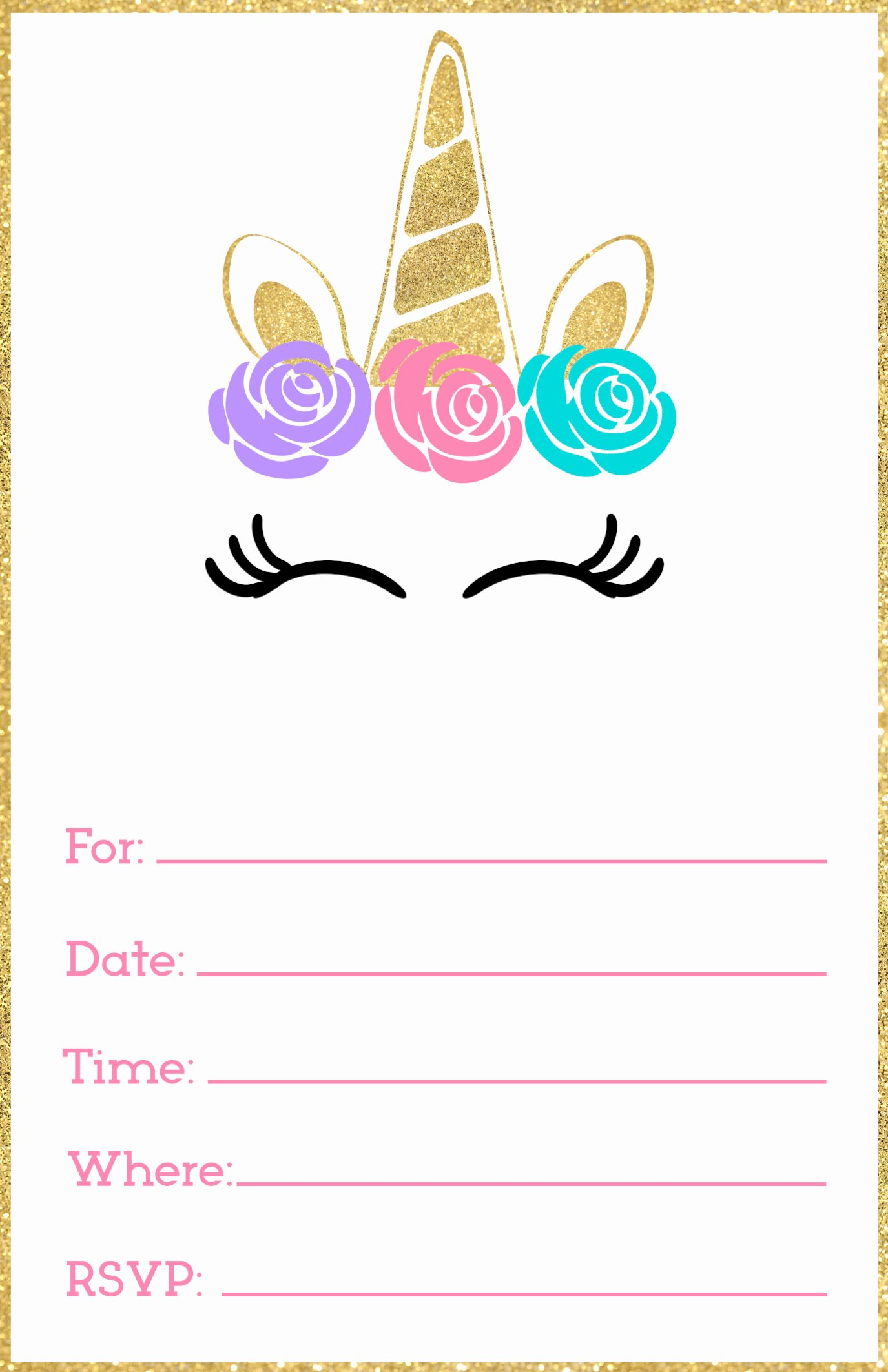 Free Printable Birthday Invitation Templates Unique Free Printable Unicorn Invitations Template Paper Trail