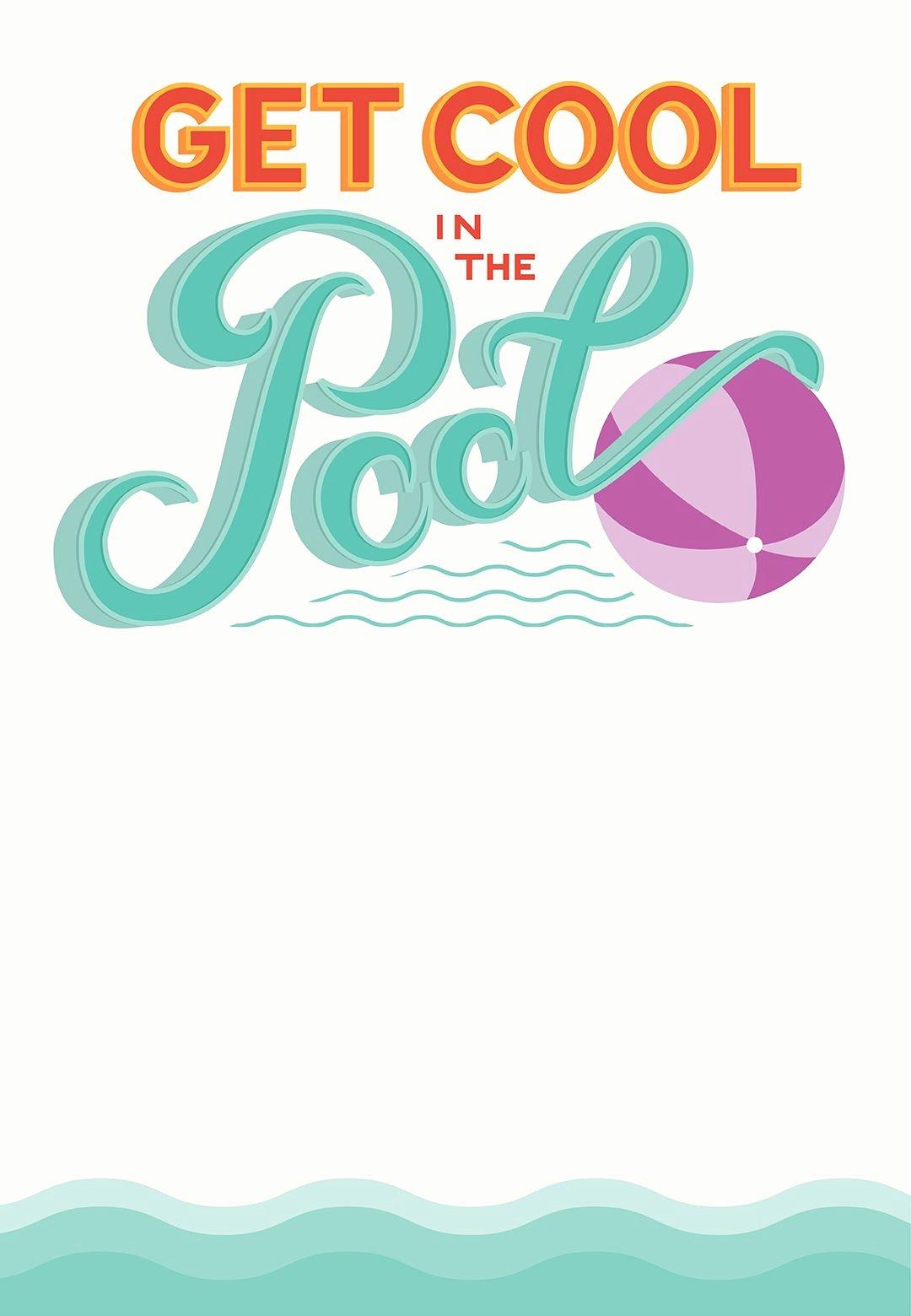 Free Printable Birthday Invitation Templates Unique Pool Party Free Printable Party Invitation Template