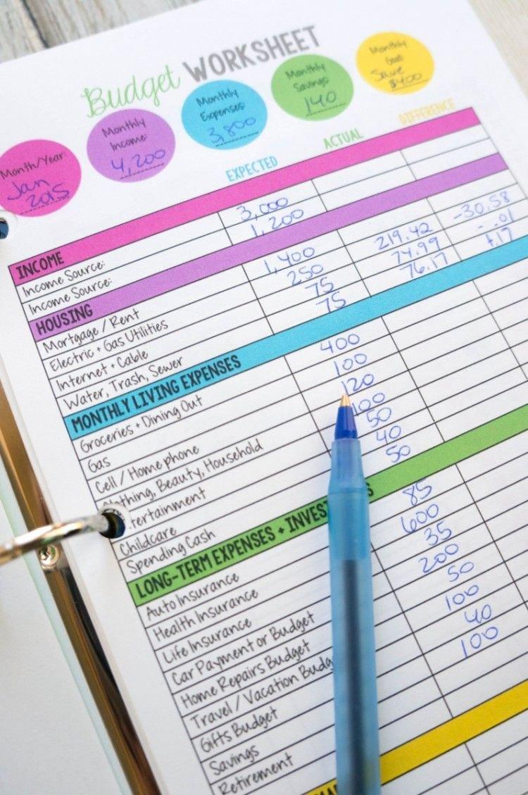 Free Printable Budget Templates Fresh Family Bud Worksheet