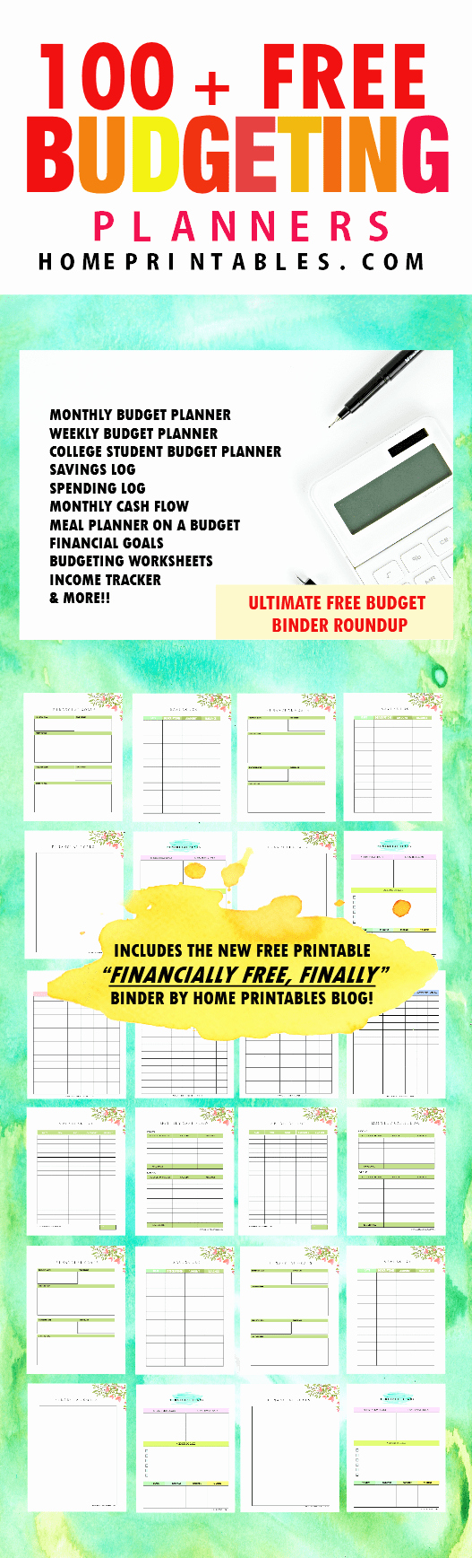 Free Printable Budget Templates Luxury 100 Free Bud Templates for Financial Success Home