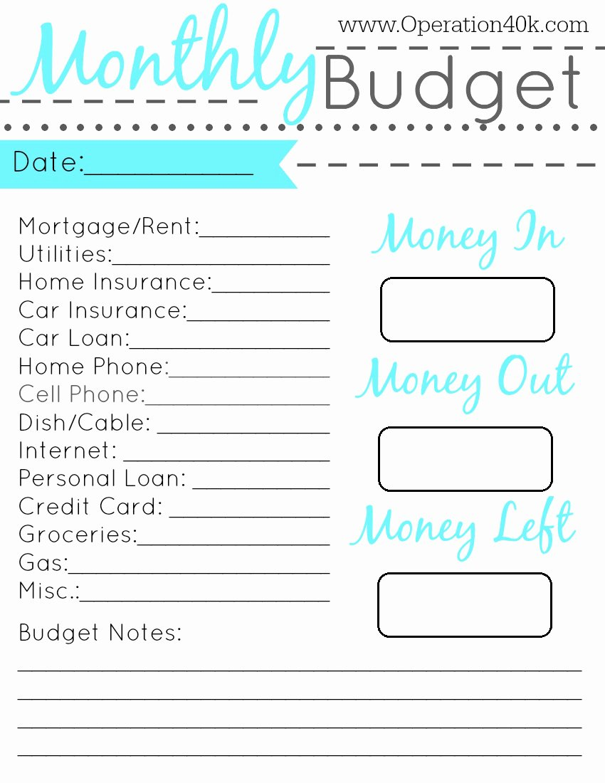 Free Printable Budget Templates New Family Binder Free Printable Set Operation $40k