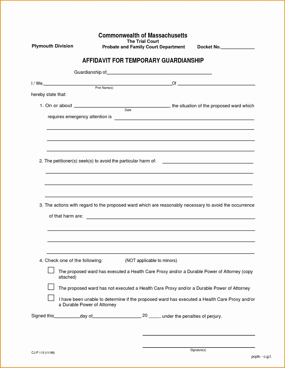 Free Printable Child Guardianship forms Awesome Free Printable Child Guardianship forms Free for Free