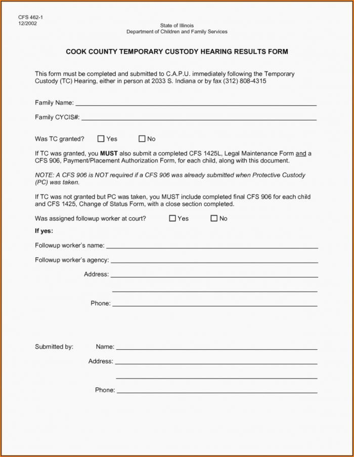 Free Printable Child Guardianship forms Beautiful Printable Temporary Guardianship form for Grandparents