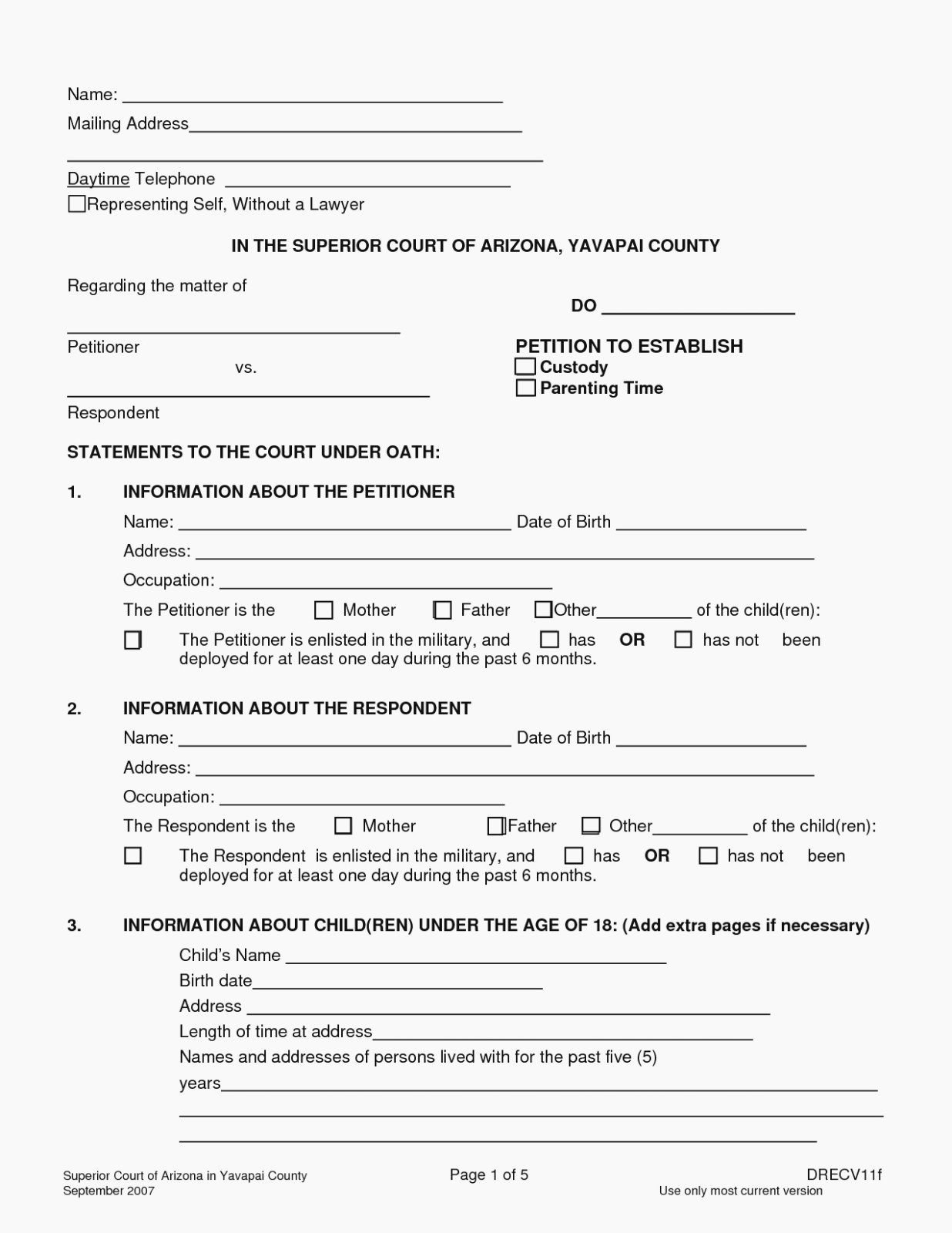 Free Printable Child Guardianship forms Elegant is Free Printable