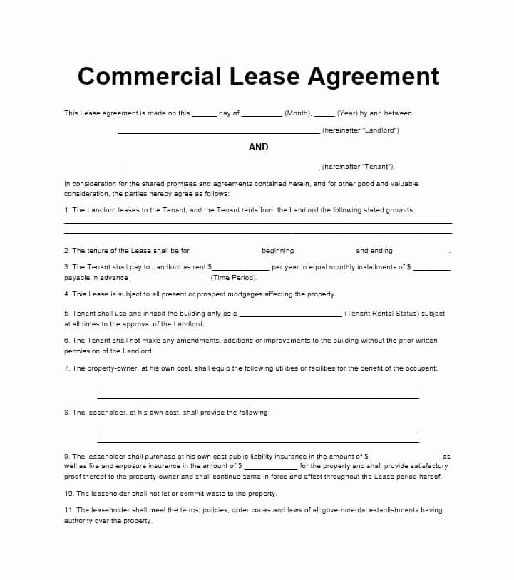 Free Printable Commercial Lease Agreement Awesome 26 Free Mercial Lease Agreement Templates Template Lab