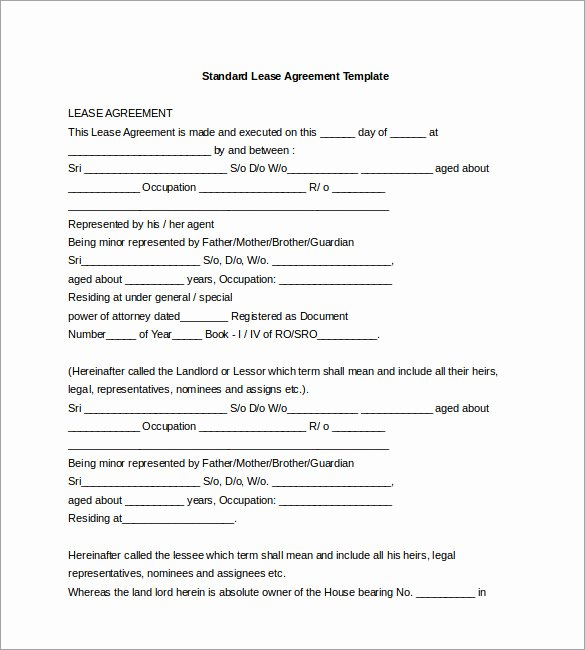 Free Printable Commercial Lease Agreement Best Of Agreement Template – 20 Free Word Pdf Documents Download