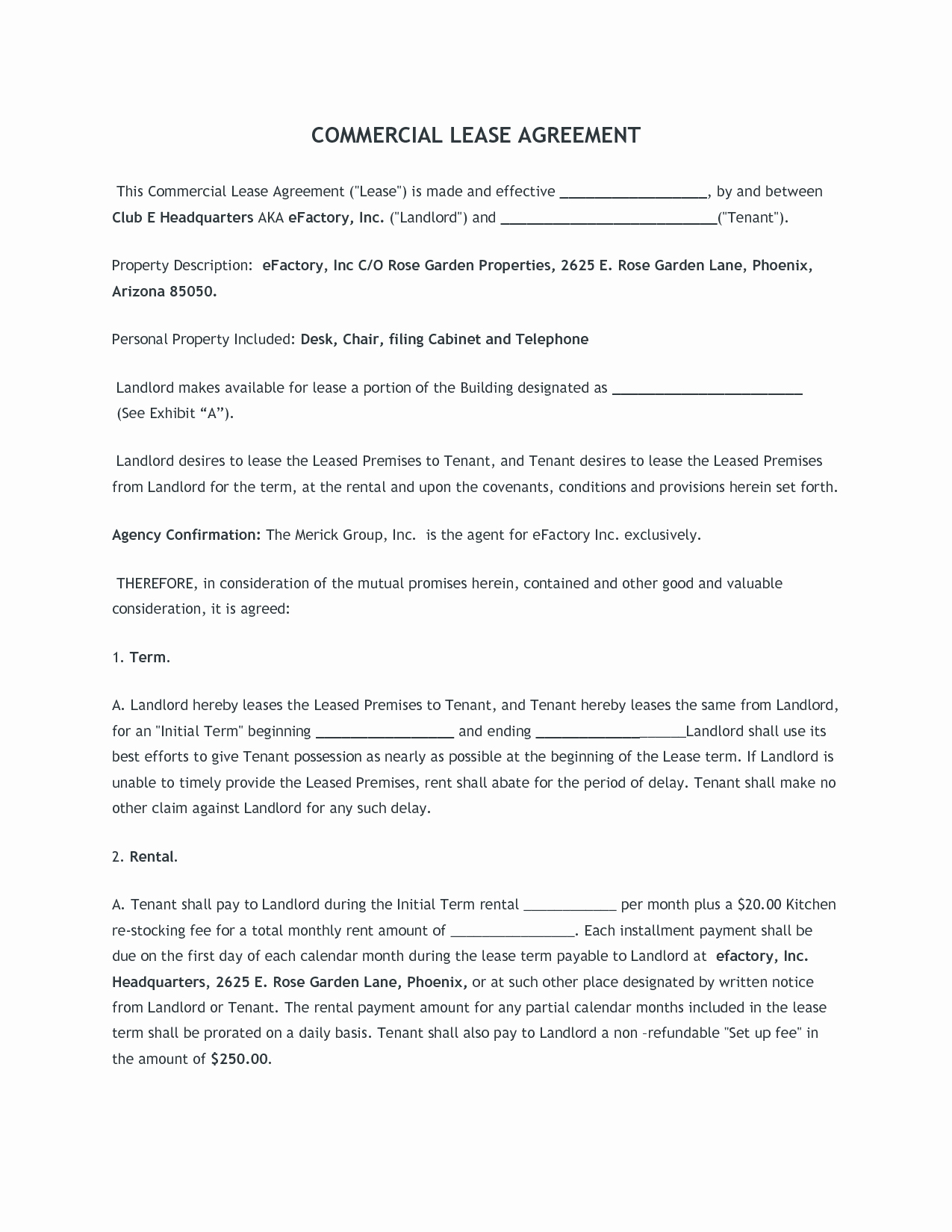Free Printable Commercial Lease Agreement Best Of Mercial Lease Agreement Free Printable Documents