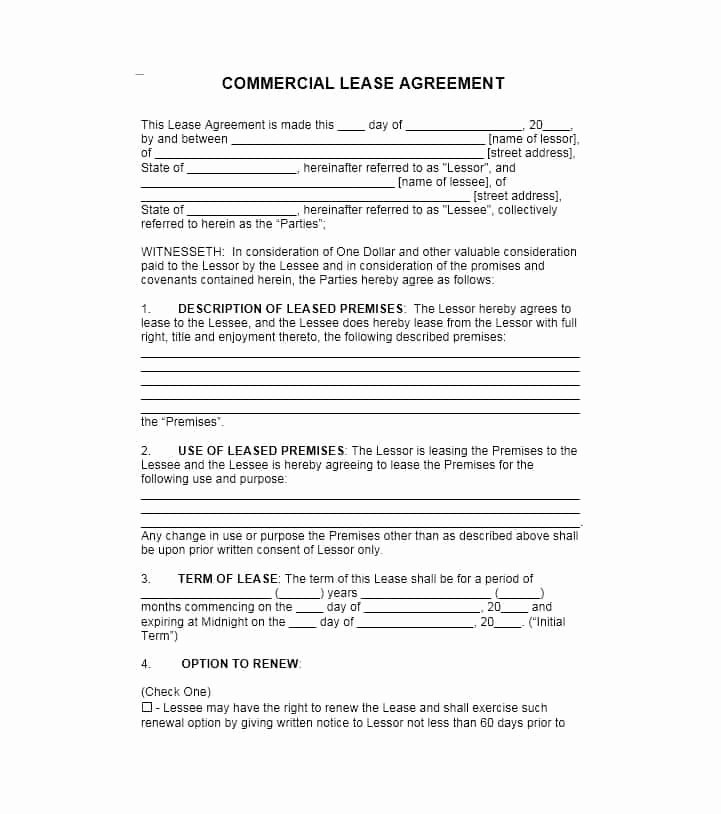 Free Printable Commercial Lease Agreement New 26 Free Mercial Lease Agreement Templates Template Lab