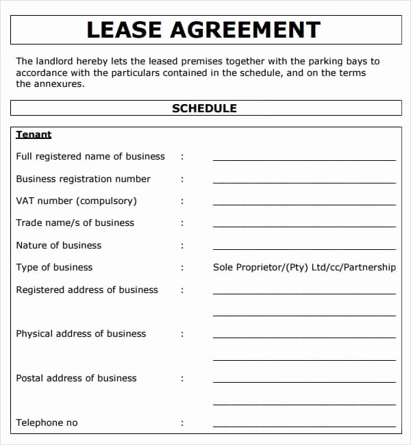 Free Printable Commercial Lease Agreement Unique 13 Mercial Lease Agreement Templates Excel Pdf formats
