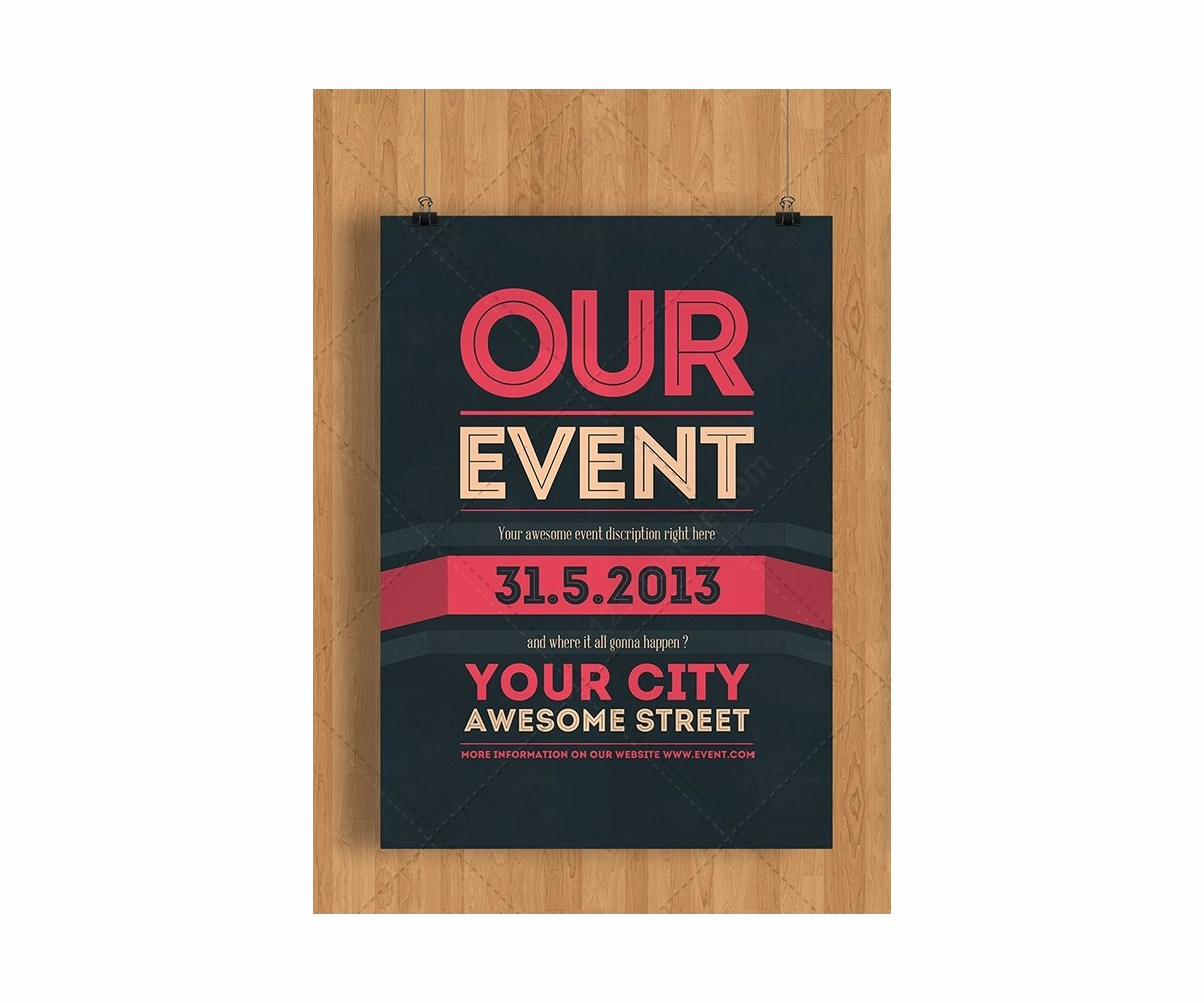 Free Printable event Flyer Templates Awesome event Flyer Template Psd Clean Minimal and Modern theme