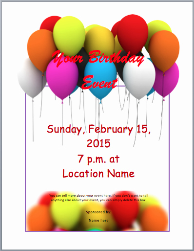 Free Printable event Flyer Templates Lovely Birthday Party Invitation Flyer Template 3 Printable