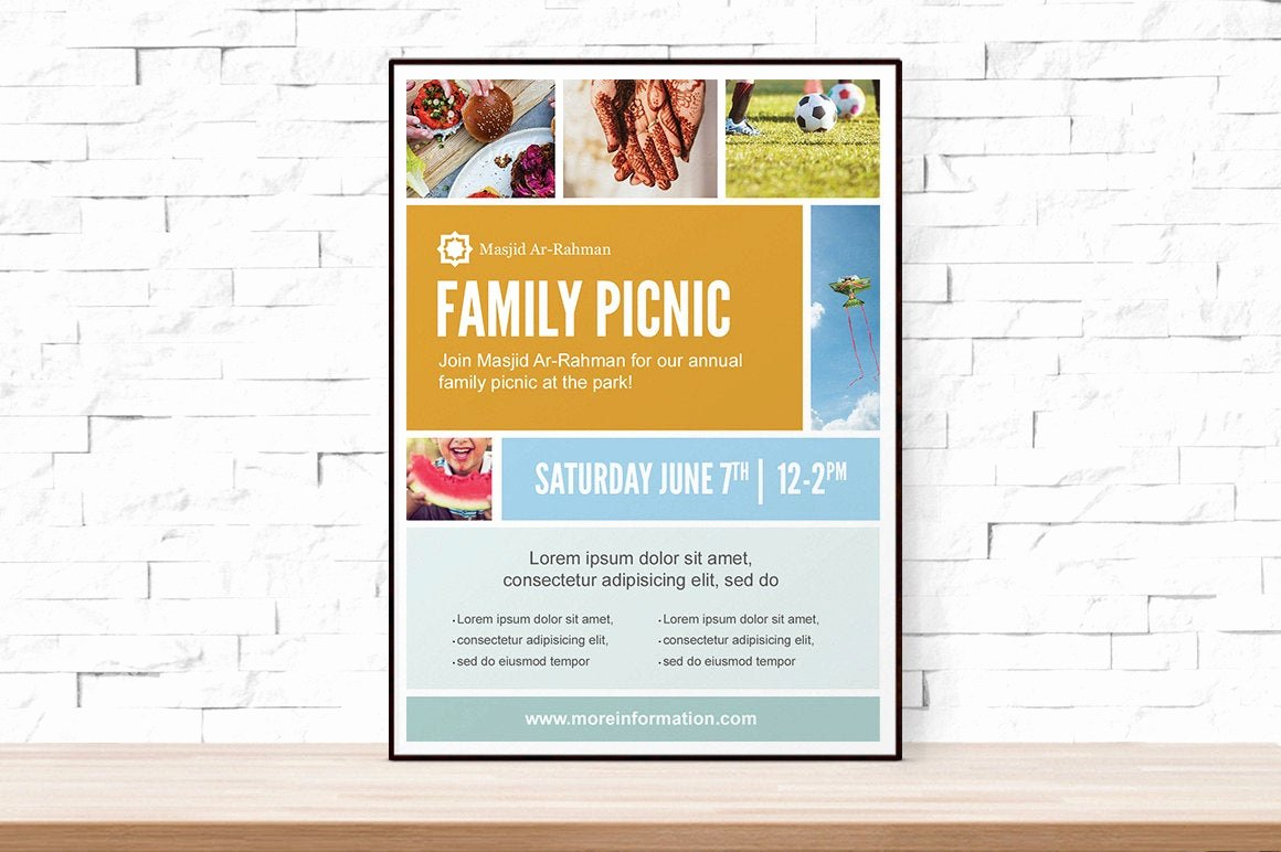 Free Printable event Flyer Templates Lovely Diy Printable Picnic Collage event Template Flyer for Church