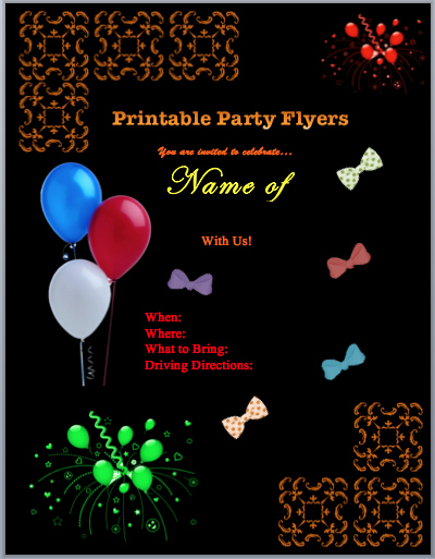 Free Printable event Flyer Templates Lovely Family Flyers