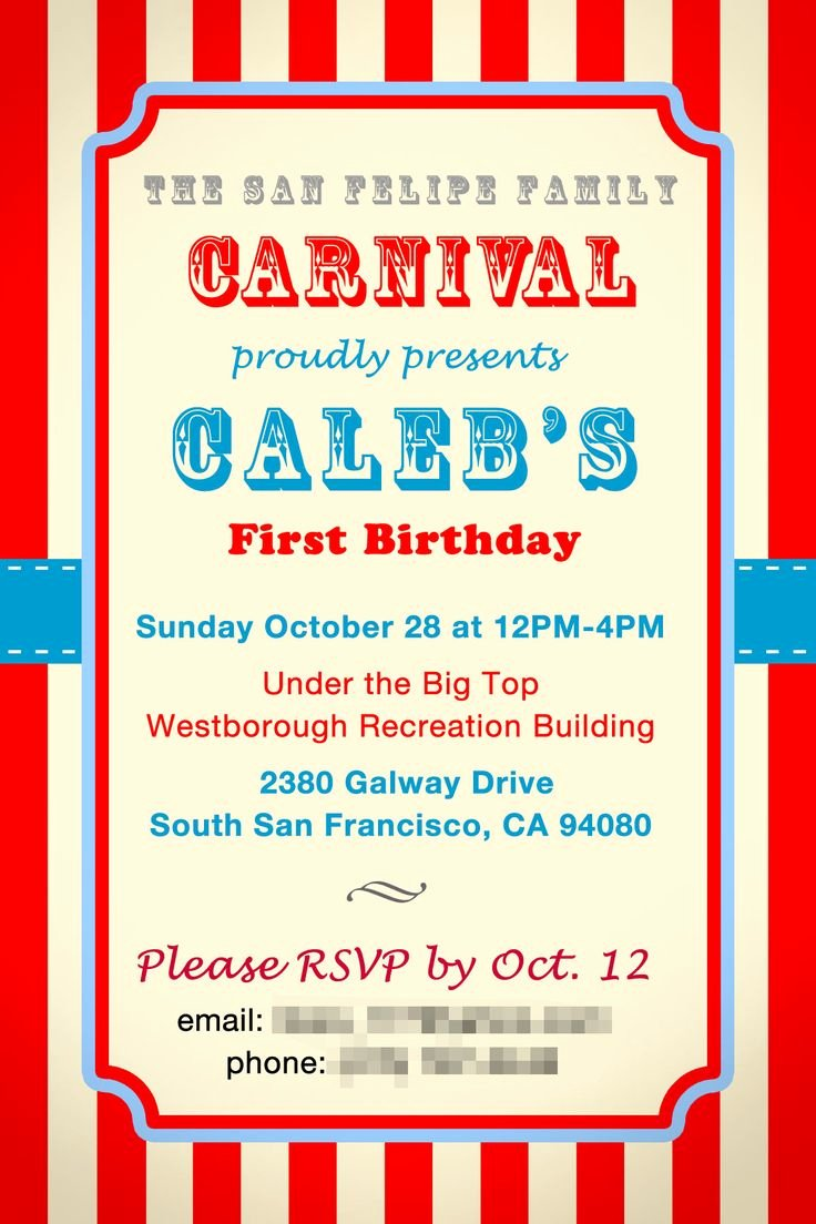 Free Printable event Flyer Templates Luxury Circus Invitation Templates for School