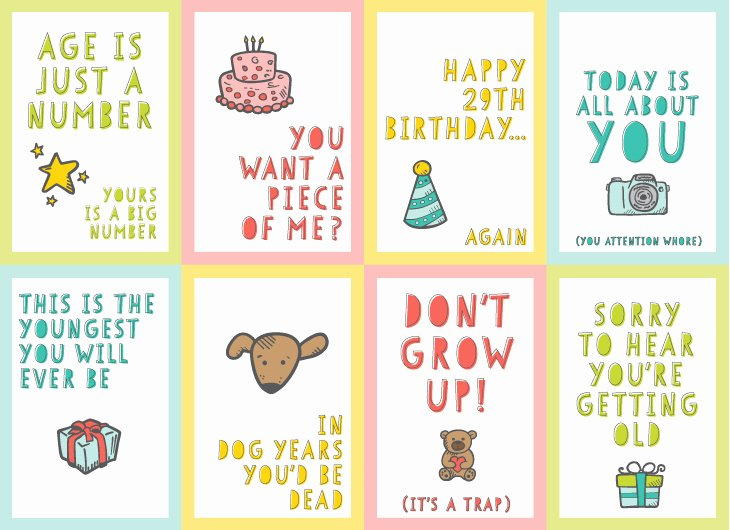 Free Printable Funny Birthday Cards Lovely Free Funny Printable Birthday Cards for Adults Eight