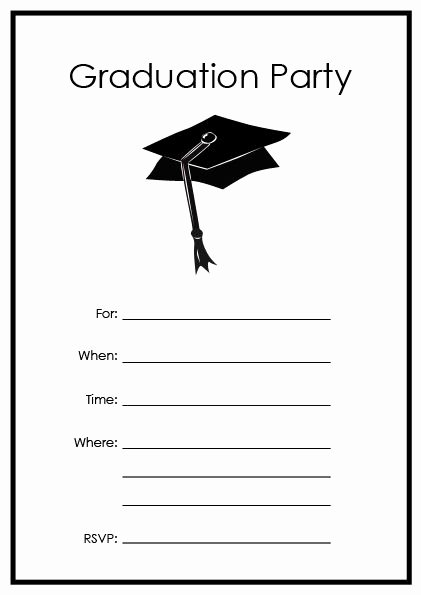 Free Printable Graduation Invitations Awesome Free Printable Graduation Party Templates