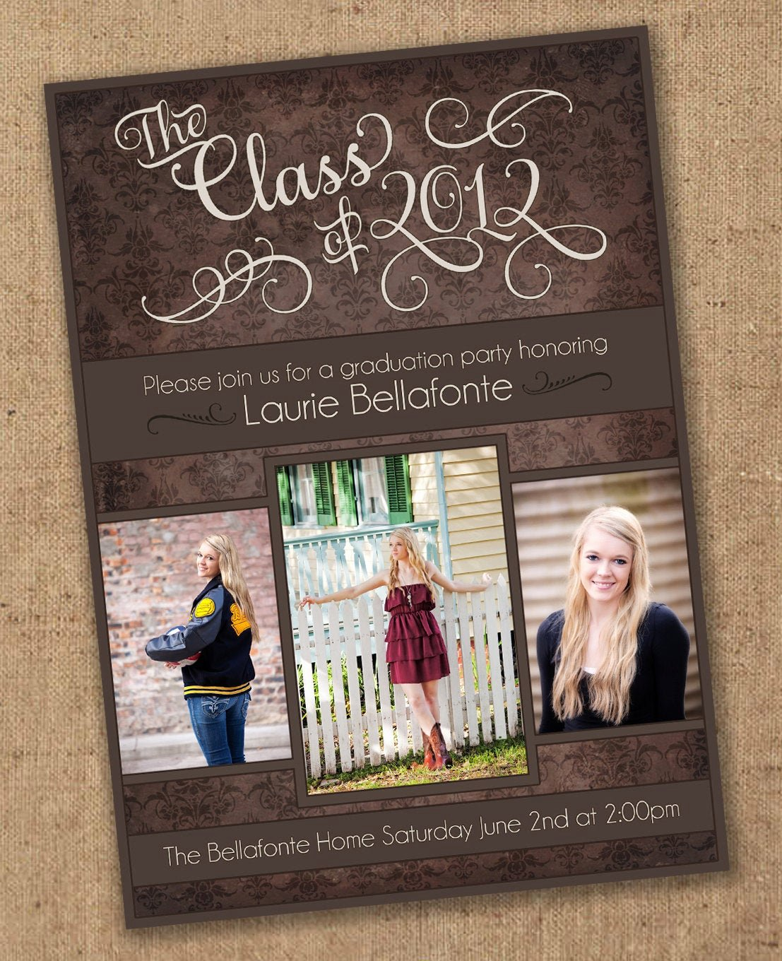 Free Printable Graduation Invitations Best Of Damask Graduation Invitation Printable