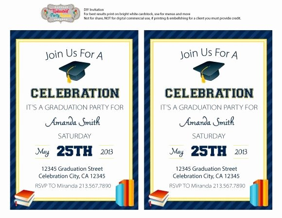 Free Printable Graduation Invitations Best Of Free Editable Graduation Party Invitation Freeprintables
