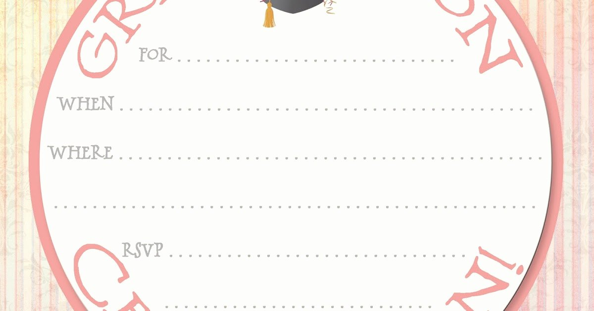 Free Printable Graduation Invitations Best Of Free Printable Party Invitations Graduation Party