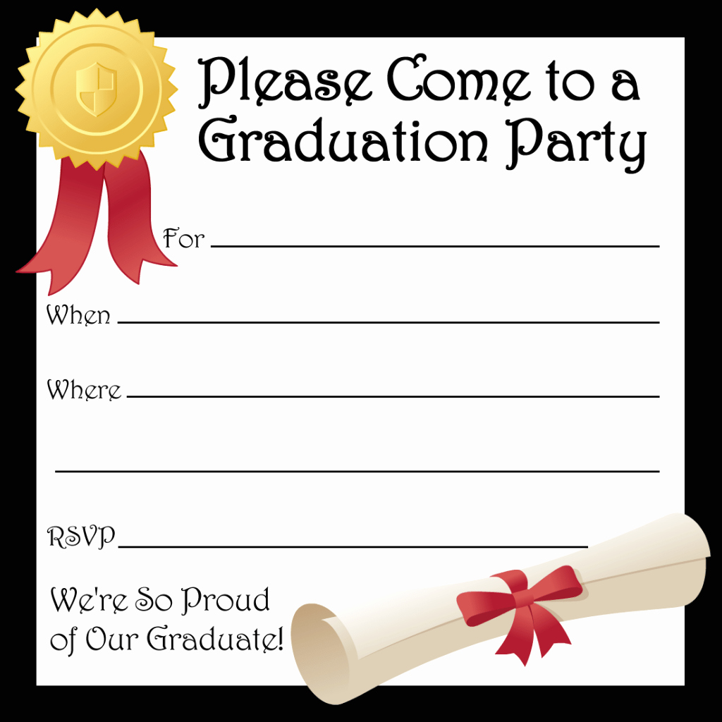 Free Printable Graduation Invitations Elegant Graduation Invitation Templates
