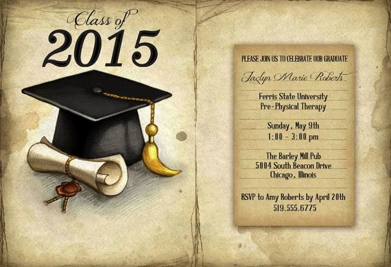 Free Printable Graduation Invitations Fresh Vintage Graduation Invitation Printable Graduation