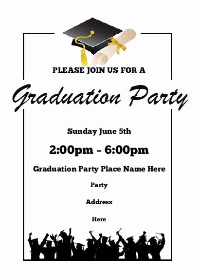 Free Printable Graduation Invitations Lovely Graduation Party Invitations Free Printable