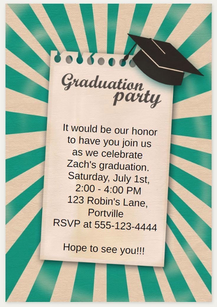 Free Printable Graduation Invitations New 25 Unique Free Printable Graduation Invitations Ideas On