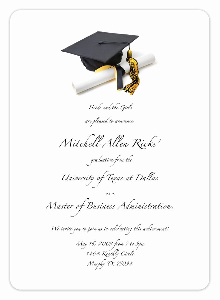 Free Printable Graduation Invitations New Free Printable Graduation Invitation Templates 2013 2017