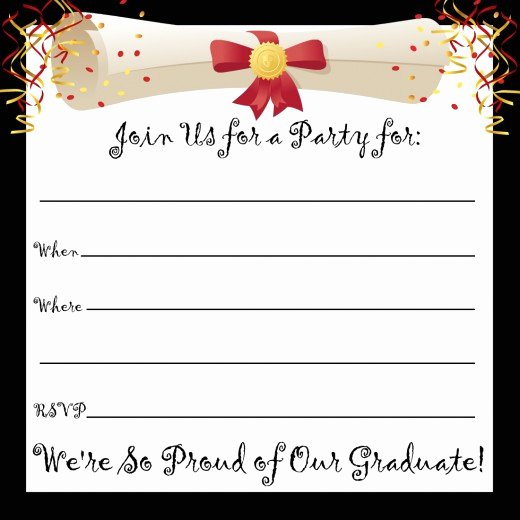 Free Printable Graduation Invitations New Free Printable Graduation Party Invitations