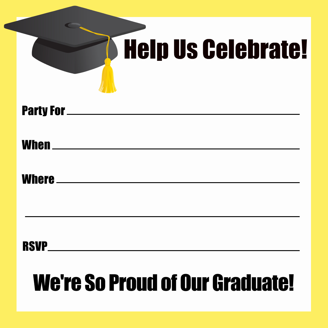 Free Printable Graduation Invitations Unique 15 Graduation Party Invitations – Party Ideas