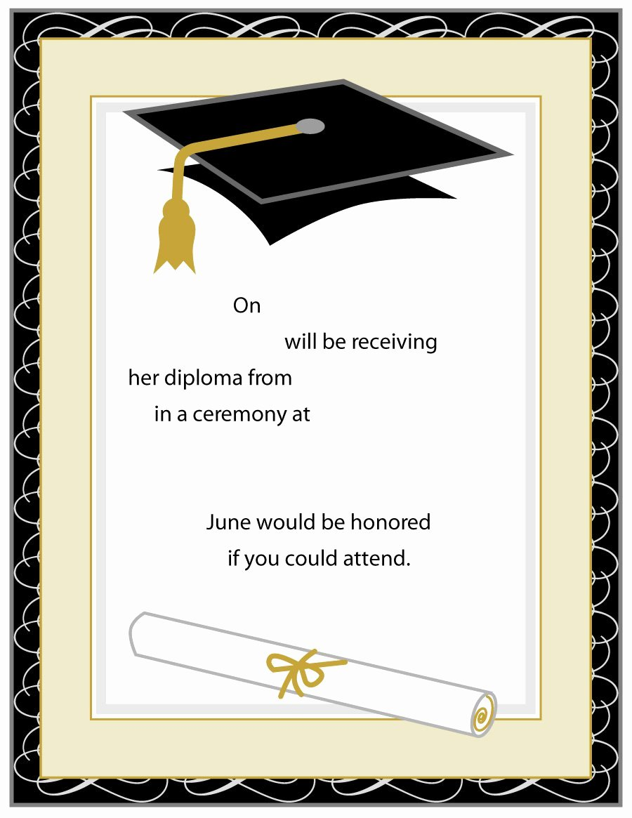 Free Printable Graduation Invitations Unique 40 Free Graduation Invitation Templates Template Lab