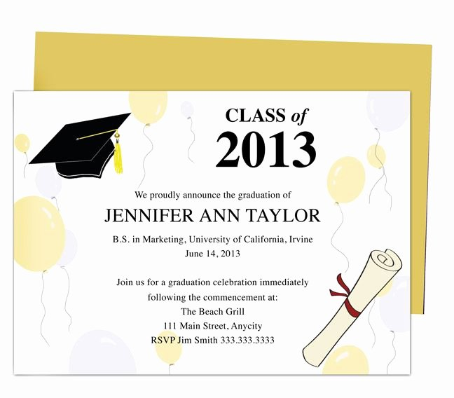 Free Printable Graduation Invitations Unique Best 46 Printable Diy Graduation Announcements Templates