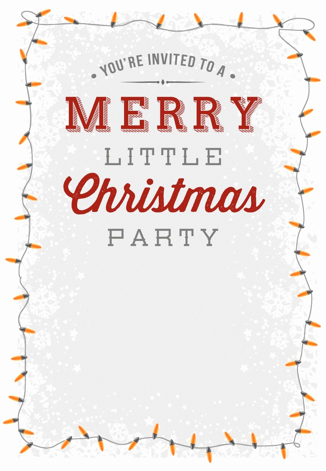 Free Printable Invitations Templates Elegant A Merry Little Party Free Printable Christmas Invitation