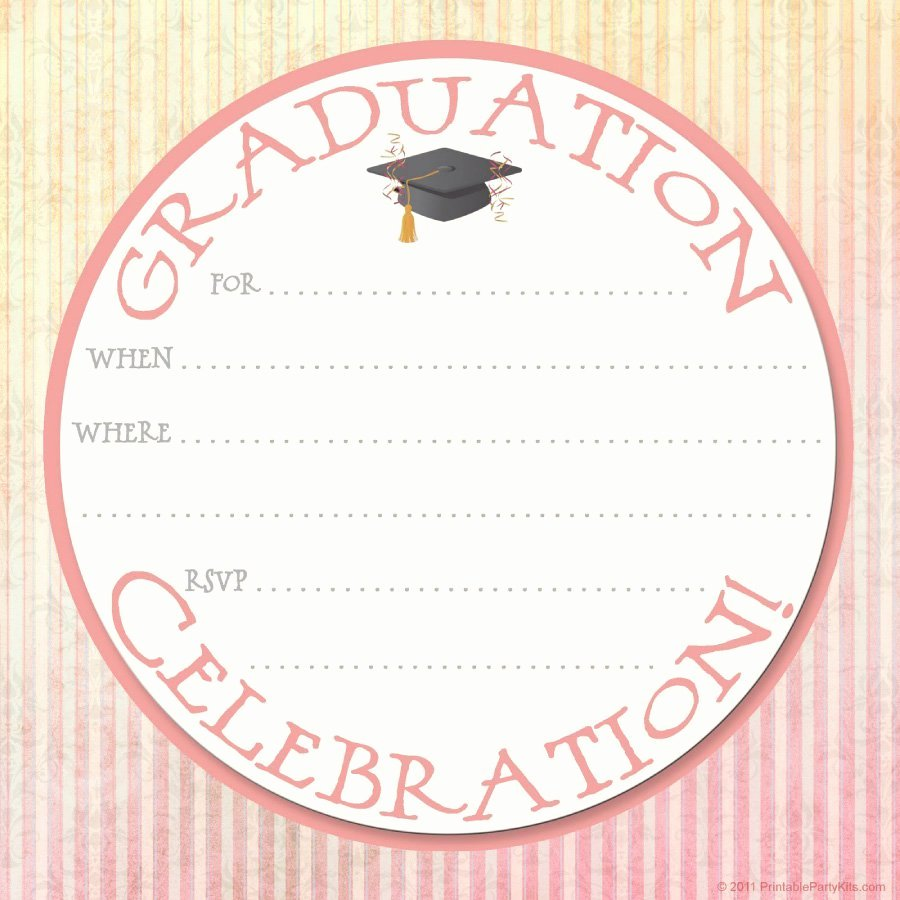 Free Printable Invitations Templates Fresh 40 Free Graduation Invitation Templates Template Lab