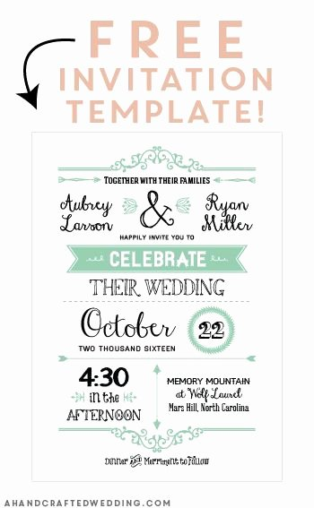 Free Printable Invitations Templates New Free Printable Wedding Invitation Template