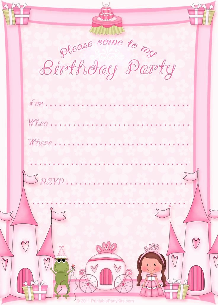 Free Printable Invitations Templates Unique Free Printable Princess Birthday Invitation Template