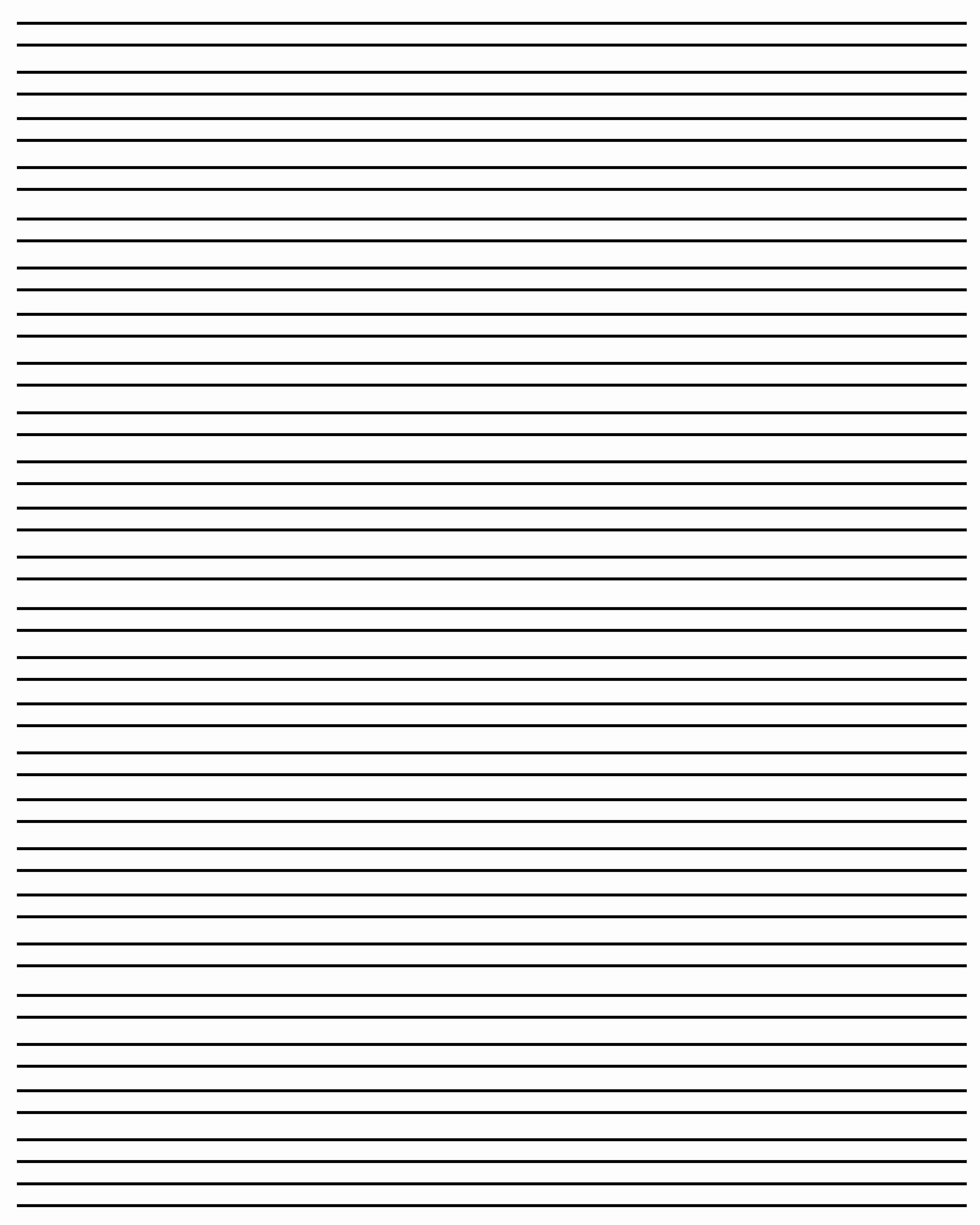 Free Printable Lined Paper Beautiful 20 Free Printable Blank Lined Paper Template In Pdf