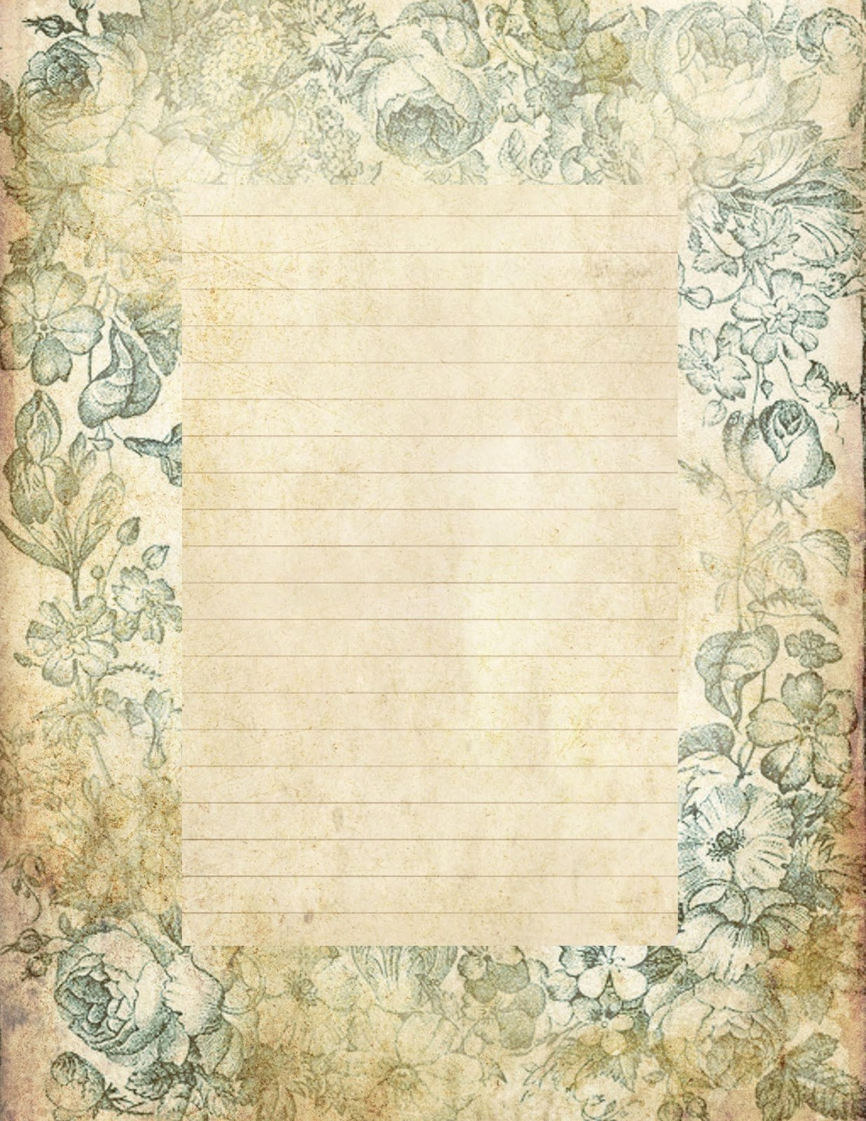 "Free Printable Lined Paper Beautiful Lilac & Lavender ""antiqued"" Lined Paper & Stationery"