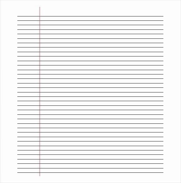 Free Printable Lined Paper Beautiful Printable Lined Paper Pdf