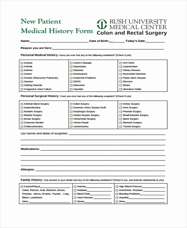 Free Printable Medical forms Fresh Free 39 Printable Medical forms