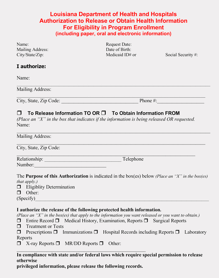 Free Printable Medical forms Unique 20 Templates to Create A Medical Information Release form