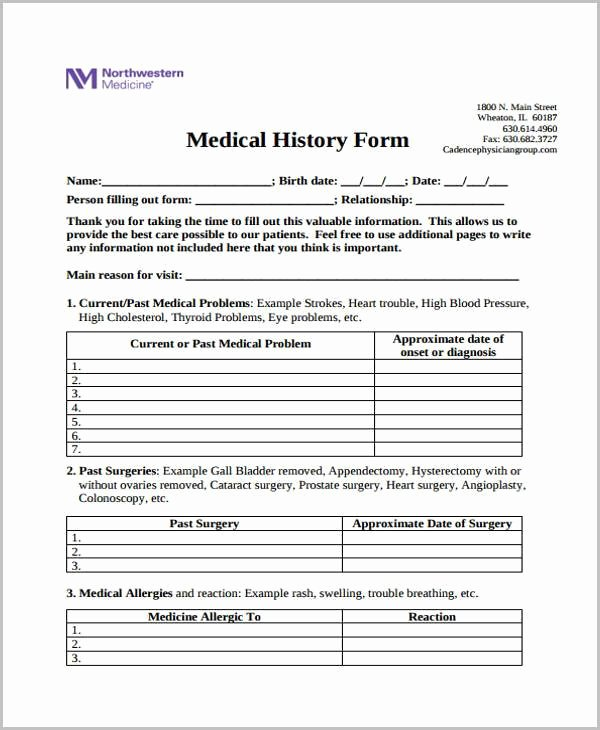 Free Printable Medical forms Unique Free 39 Printable Medical forms