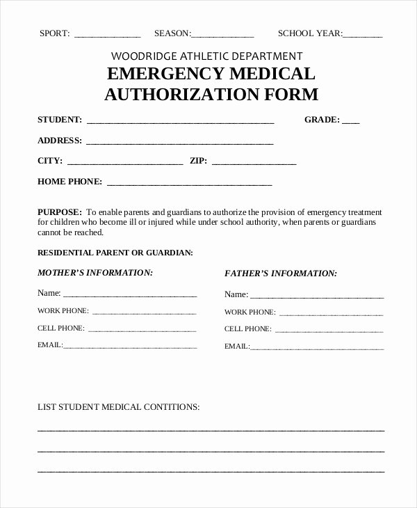 Free Printable Medical Release form New Medical Authorization form