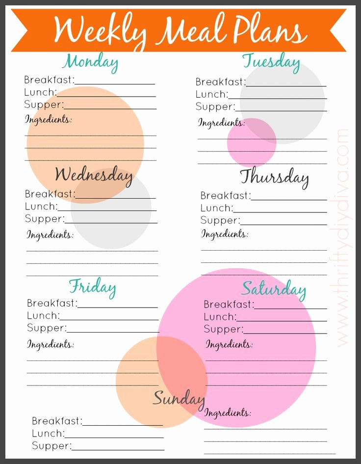 Free Printable Menu Templates Beautiful Best 25 Meal Planning Templates Ideas On Pinterest