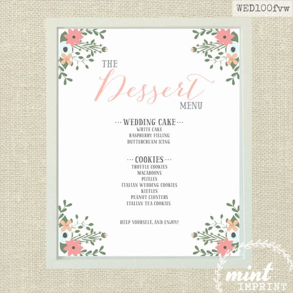 Free Printable Menu Templates Best Of Dessert Menu Templates – 21 Free Psd Eps format Download