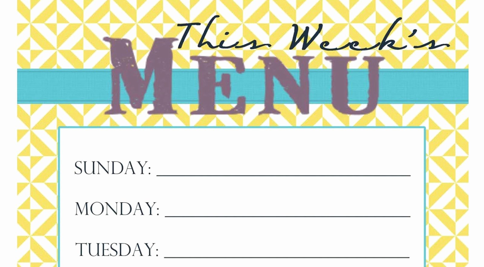 Free Printable Menu Templates Elegant Jenna Blogs Pinterest Picks 5 Sites I Found and Love